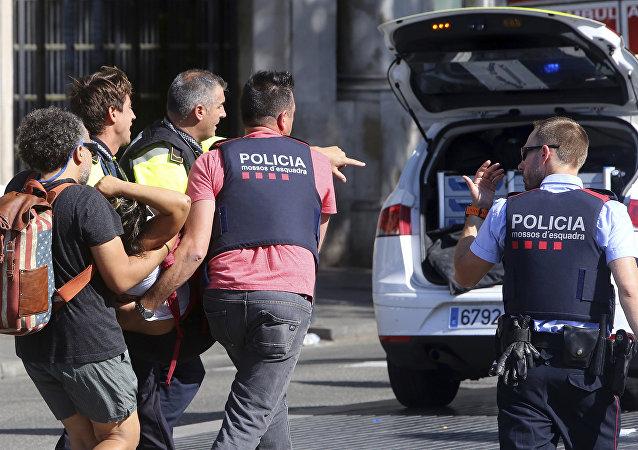 La police à Barcelone