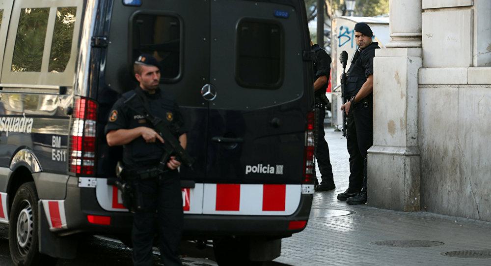 La police de Barcelone