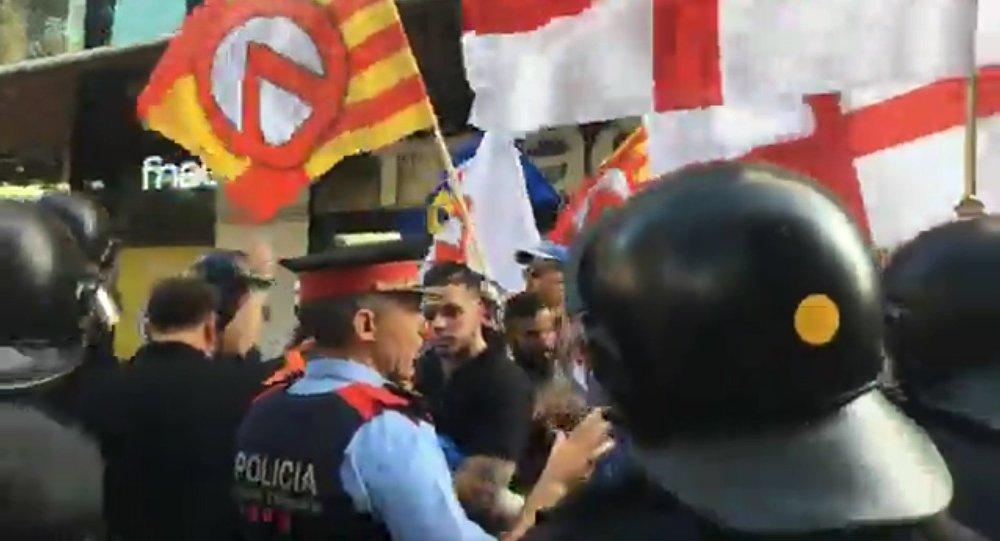 Manifestation «contre l'islamisation de l'Europe» sur la Rambla