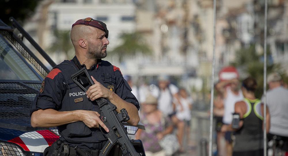 La police catalane à Cambrils