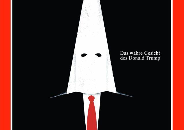Trump sous une capuche du KKK en Une d'un journal allemand