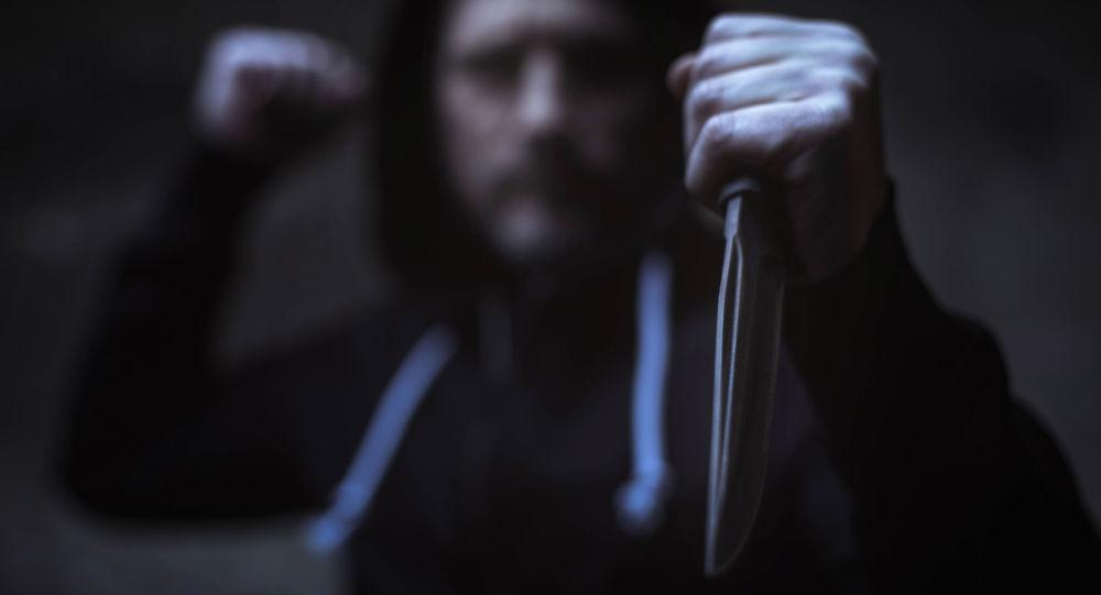 Attaque au couteau. Image d'illustration
