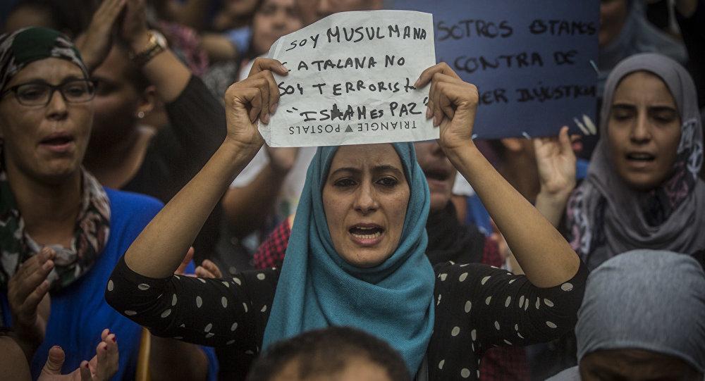 Manifestation de musulmans à Barcelone