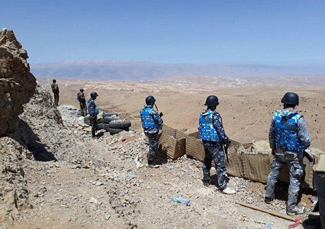 Les militaires syriennes et les combattants du Hezbollah. Archive photo