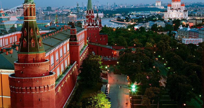 La panorama du centre-ville de Moscou