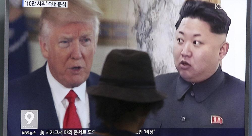 Images de Kim Jong-un et Donald Trump
