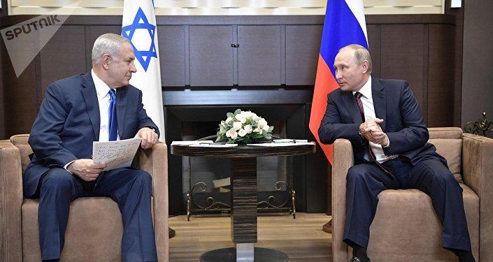 Benjamin Netanyahu et Vladimir Poutine