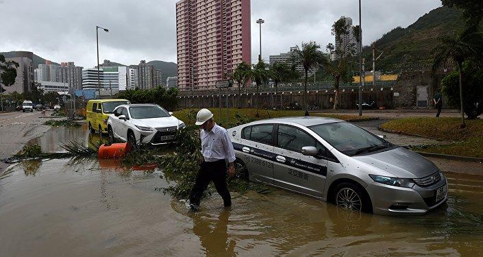 Le typhon Hato inonde la province de Guandong