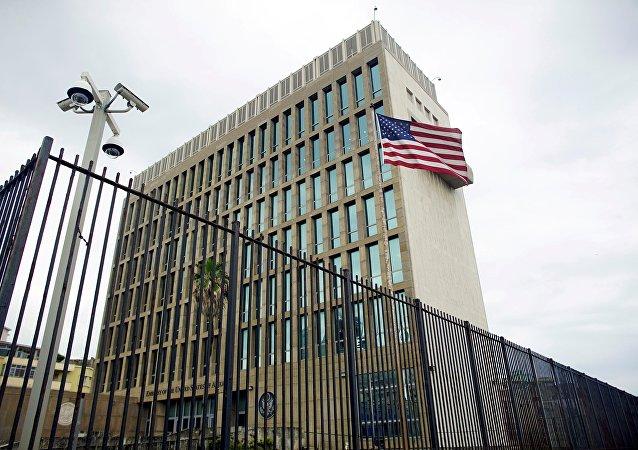 L'ambassade US à Havana, Cuba, June 19, 2017.