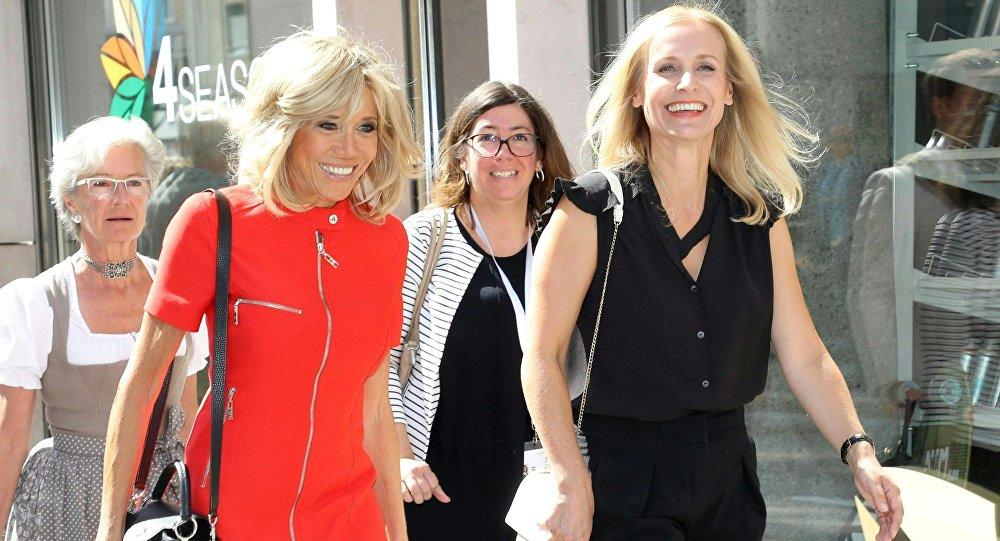 Eveline Steinberger-Kern et Brigitte Macron