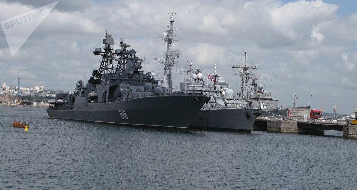Le destroyer anti-sous-marin russe Severomorsk à Brest, en France