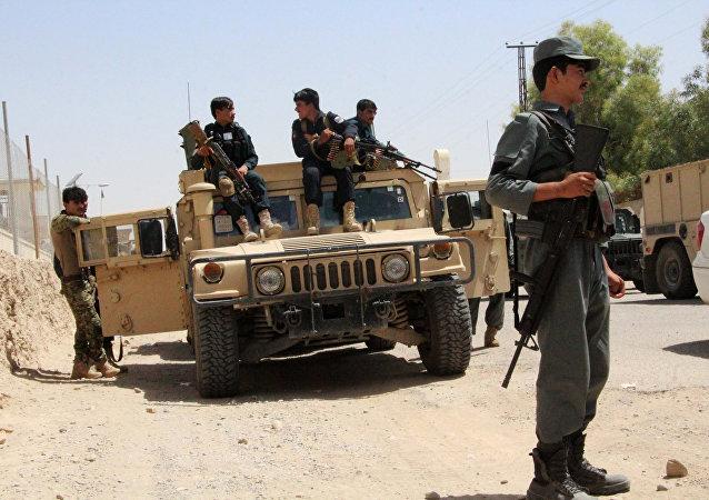 Militaires aghans dans la province de Helmand