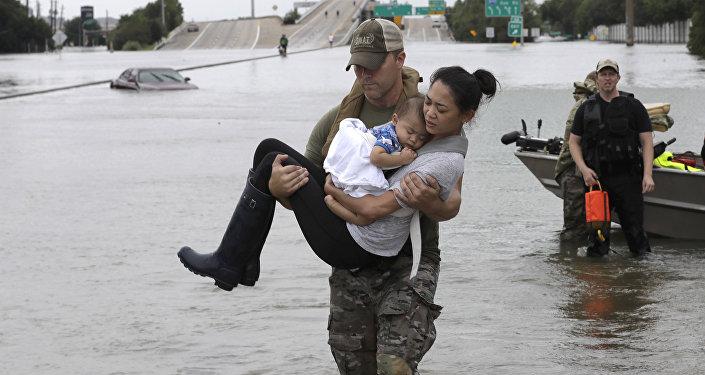 L'inondation à Houston et dans sa banlieue