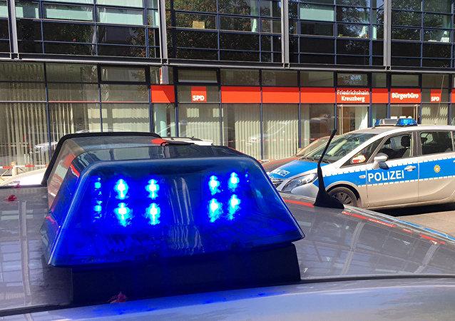 Polizei vor der SPD-Zentrale in Berlin