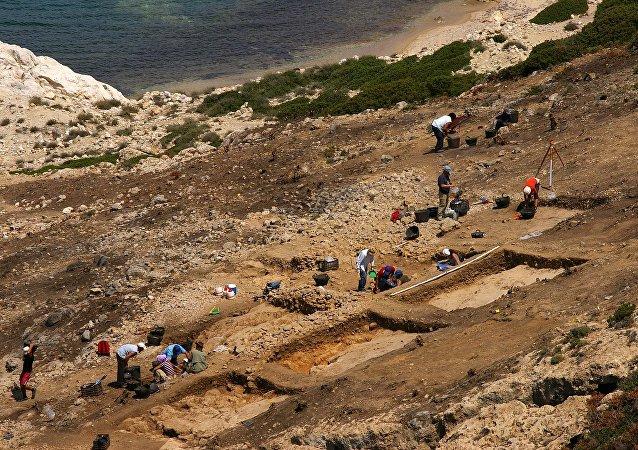 Des fouilles en Grèce. Image d'illustration