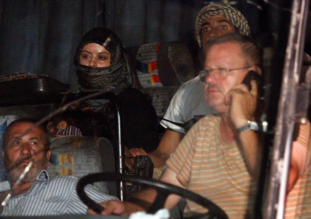 Convoi de Daech bloqué dans le désert