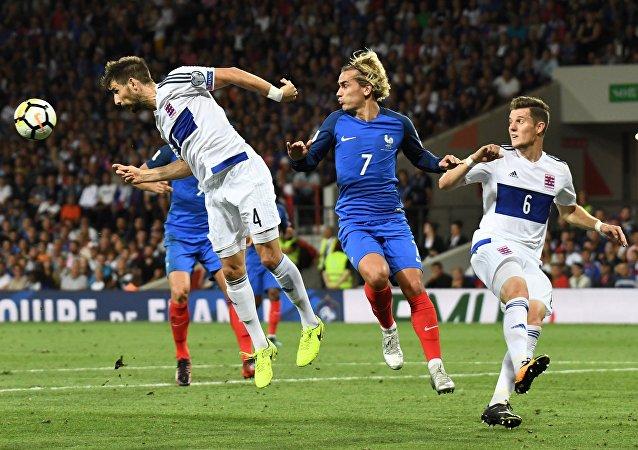 Match entre la France et le Luxembourg à Toulouse