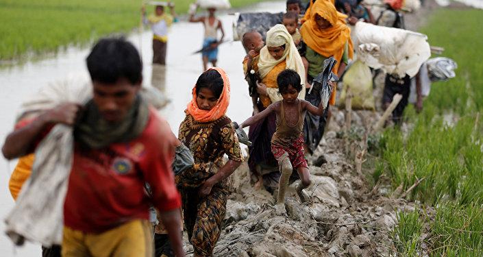 Des réfugiés Rohingya au Bangladesh