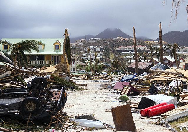 Les Antilles françaises après le passage de l'Irma le 7 septembre 2017