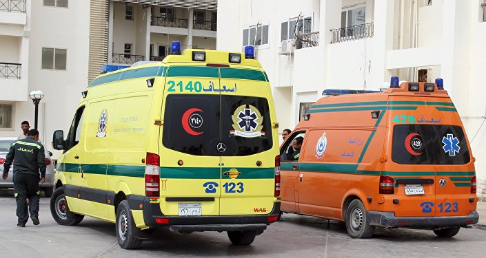 Ambulance en Égypte. Archive photo