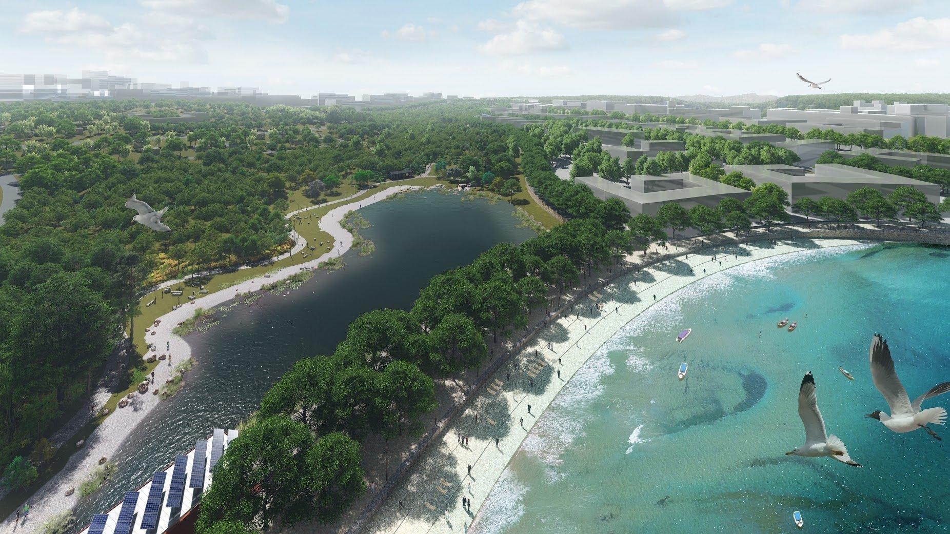 Projets d'aménagement de la baie Novik et de l'île Rousski