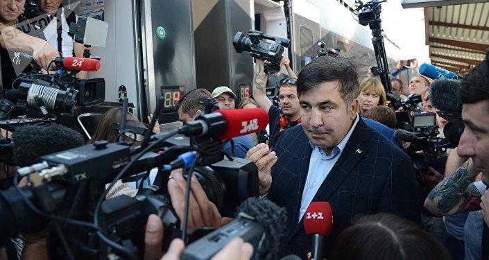 L'entrée sur le territoire de l'Ukraine par la frontière polono-ukrainienne de l'ex-Président géorgien Mikhaïl Saakachvili
