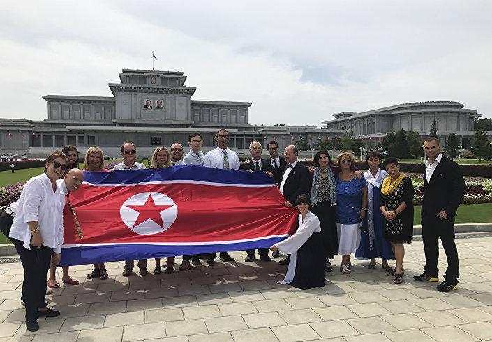 Touristes serbes en Corée du Nord