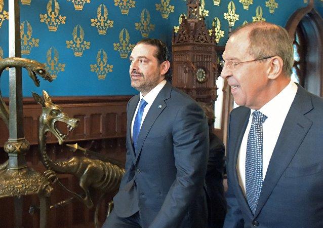 Sergueï Lavrov et Saad Hariri