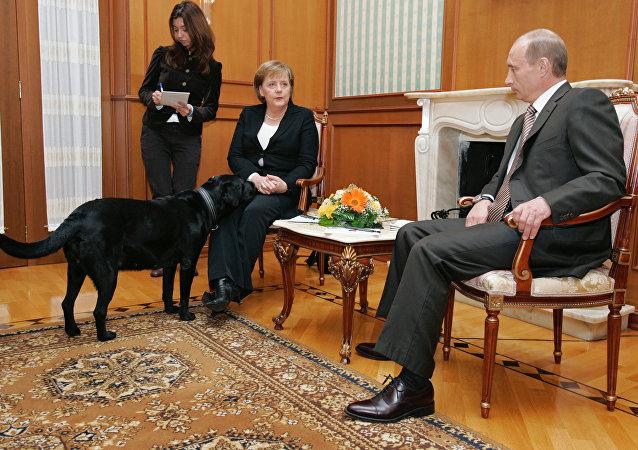 Angela Merkel et Poutine