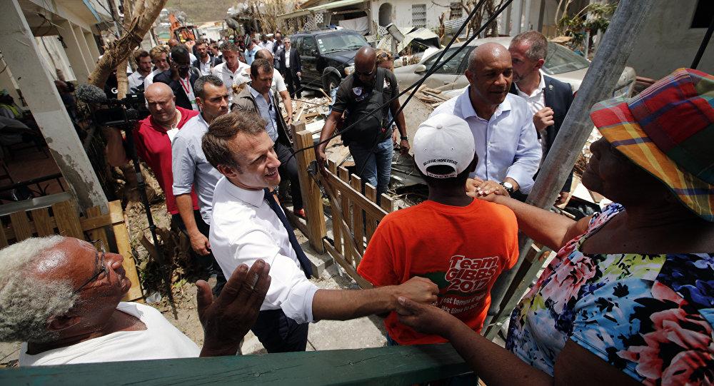 Emmanuel Macron n'a pas dormi à l'hôtel sur l'île Saint-Martin