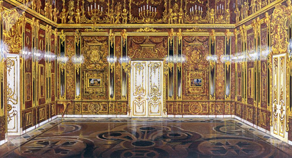 La fameuse chambre d ambre russe reconstitu e paris - Chambre des notaires d ile de france ...