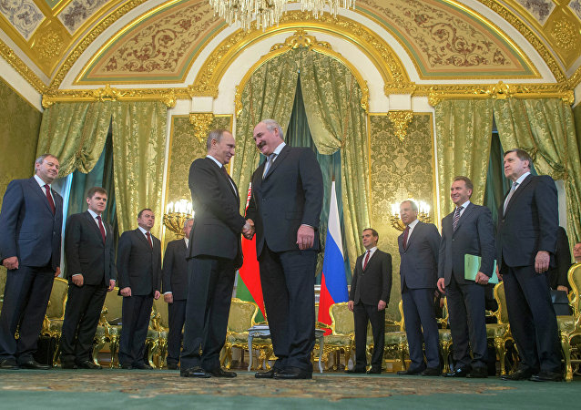 Vladimir Poutine et Alexandre Loukachenko