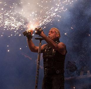 Till Lindemann, le chanteur du groupe Rammstein
