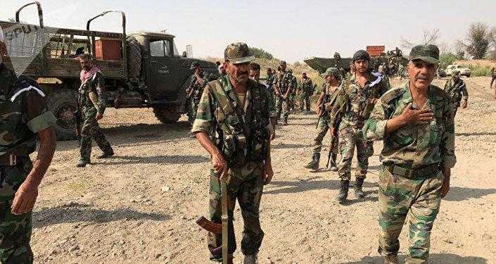 Les troupes de l'armée syrienne