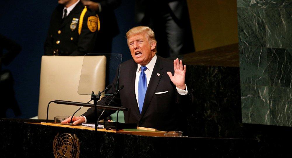 Donald Trump lors de son intervention à l'Assemblée générale de l'Onu