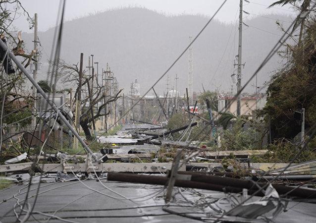 L'ouragan Maria frappe Porto Rico