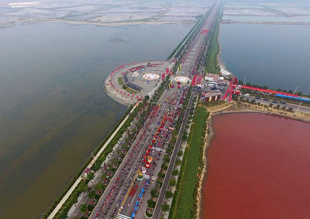 Le lac salé Yuncheng