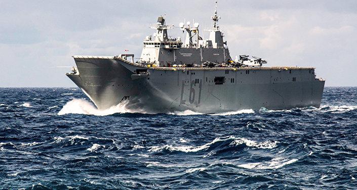 Le navire amiral de la marine espagnol Juan Carlos I