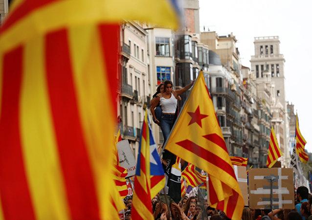 Les étudiants barcelonais manifestent en faveur du référendum d'autodétermination