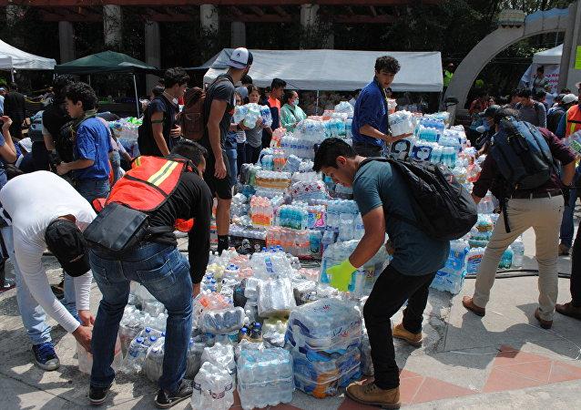 aide humanitaire au Mexique