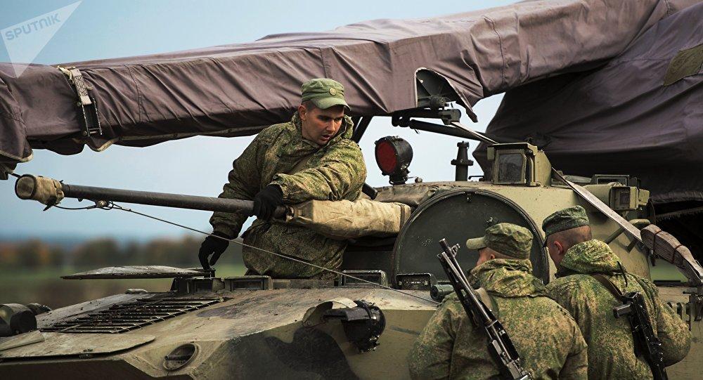 Les soldats des troupes aéroportées russes