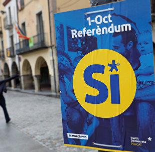 Une affiche pro-référendum catalan