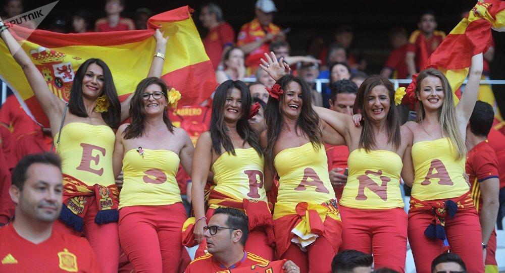 Supporters de l'équipe espagnole