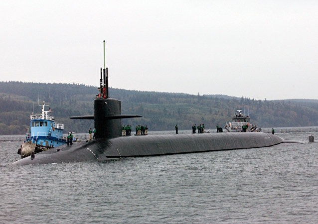 Le sous-marin USS Louisiana à la base navale de Kitsap