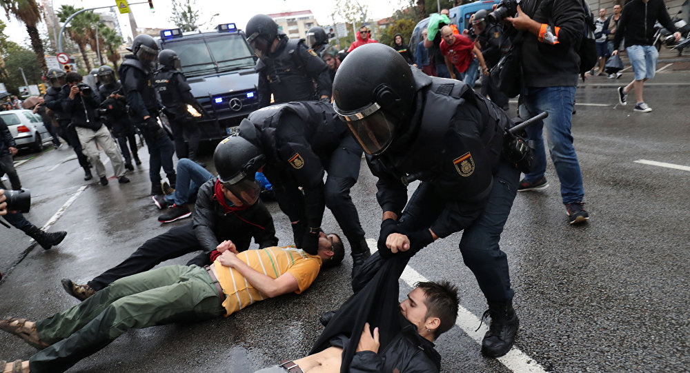 Des blocages autour de l'aéroport de Barcelone — Catalogne