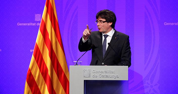 Le président la Généralité de la Catalogne, Carles Puigdemont