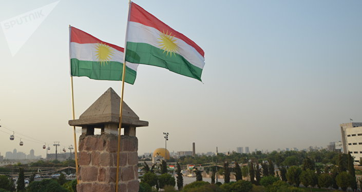 Drapeaux du Kurdistan irakien