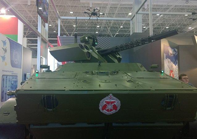 Le robot blindé russe Vikhr