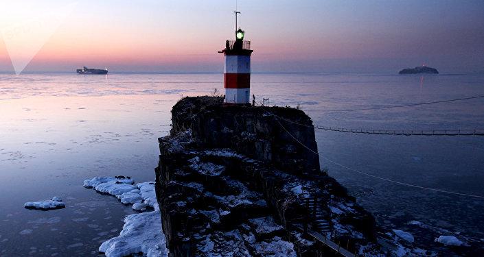 Le phare Basargina à Vladivostok