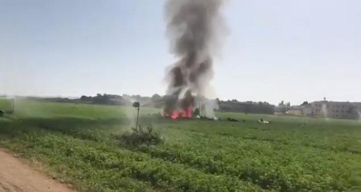 Espagne: crash d'un avion de chasse après le défilé de la fête nationale